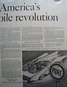 Pure oil Americas Automobile revolution Ad 1957