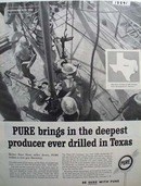 Pure Texas 3 mile deep discovery Ad 1960