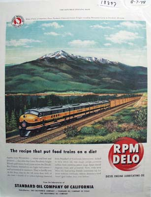 RPM Delo the diet recipe for trains Ad 1948.