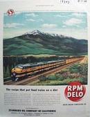 RPM Delo the diet recipe for trains Ad 1948.