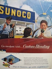 Sunoco go modern with costume-blending Ad 1962