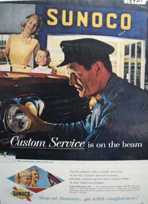 Sunoco custom service Ad 1962.