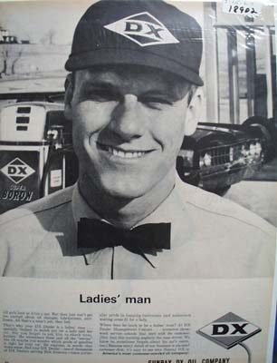 DX oil ladies man Ad 1964.