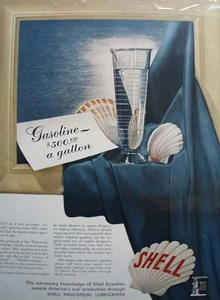Shell unique advance gas Ad 1942.