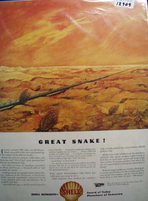 Shell Great Snake Ad 1943.