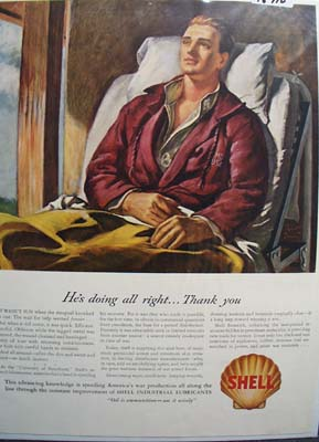 Shell the great disinfectant Ad 1944