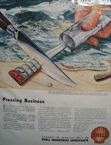 Shell pressing business Ad 1946.
