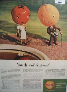Shell horizons widen through research Ad 1946.