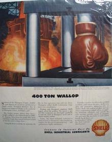 Shell 400 ton wallop Ad 1946