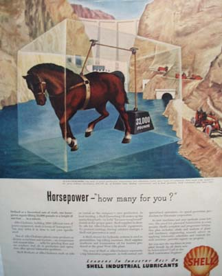 Shell horsepower Ad 1946.