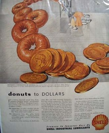 Shell donuts to dollars Ad 1946.