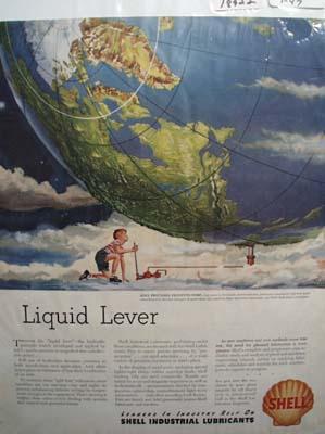 Shell liquid lever Ad 1947.