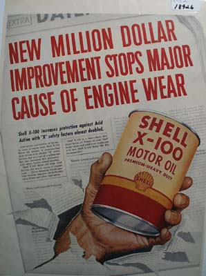 Shell the X factor of oil Ad 1952