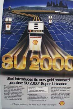Shell SU 2000 gas Ad 1984
