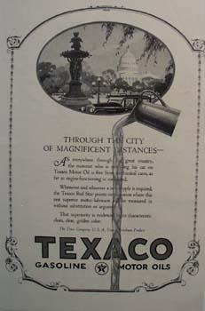 Texaco golden clear superiority Ad 1924.