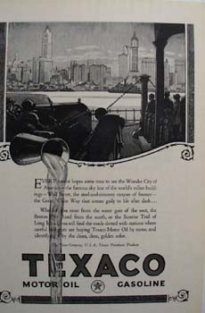 Texaco Americans clear chose Ad 1924