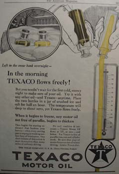 Texaco let it snow Ad 1927