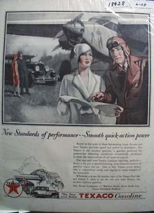 Texaco a new standard of performance Ad 1928