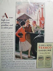 Texaco a true premium gasoline Ad 1929