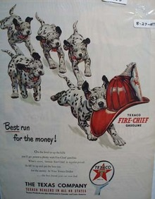Texaco Fire-Chief gasoline is the best run for your money Ad 1951