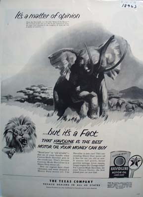 Havoline is the best oil money can buy Ad 1953.
