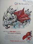 Texaco Fire-Chief gasoline sends you off like the wind Ad 1954.