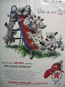 Texaco Fire-Chief gasoline gives your car a lot of get up and go Ad 1954.