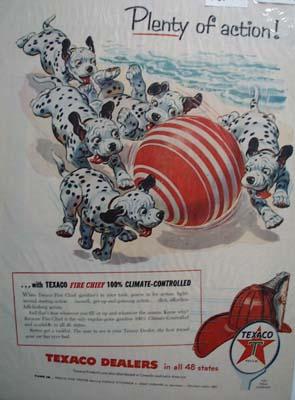 Texaco Fire-Chief gasoline provides plenty of action Ad 1955