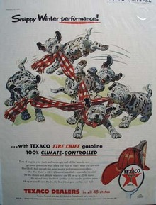Texaco Fire-Chief gasoline snappy winter performance Ad 1956
