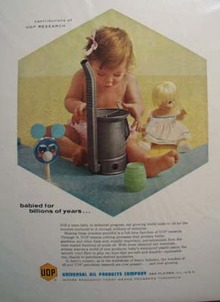 Universal Oil Products Co. babied billions of years Ad 1961.