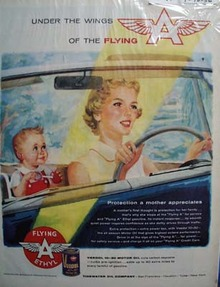 Veedol oil like a mothers protection Ad 1956.