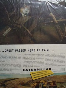 Caterpillar Crest Passed Here At 2 AM Ad 1952