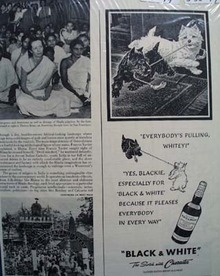 Black & White Whiskey Scottie Everybodies Pulling Ad 1949