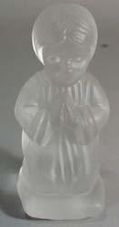 Glass Praying little girl.