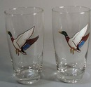 1940's Drinking glass pr with duck.