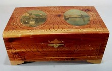 Wooden Cedar Jewelry box.
