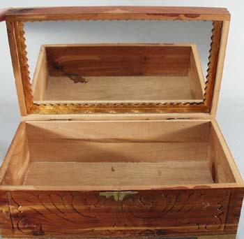 Wooden Cedar Jewelry box.