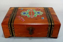 Old Cedar Jewelry Casket, probably from the 1920's.