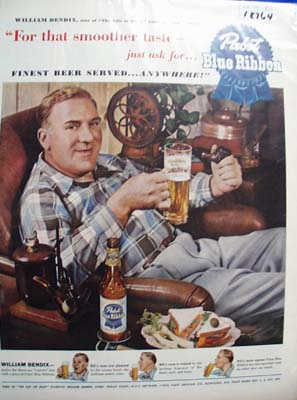 Wm Bendix & Pabst Beer Ad 1950
