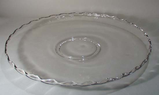 Large Crystal Tray, Heisey?