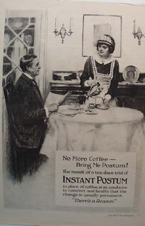 Instant Postum There's A Reason Ad 1920