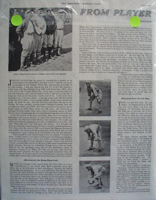 Ty Cobb form player to pilot ad by Eddie Collins.