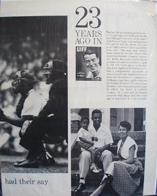 Black and white Joe DiMaggio photo Ad 1972.