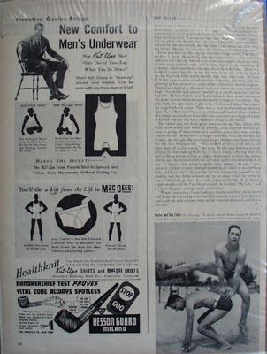 Black and white Bob Feller photos Ad 1941
