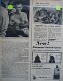 Black and white 1954 photo ad of Eddie Mathews
