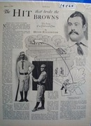 Black and white 1928 picture ad of Big Dave Orr.