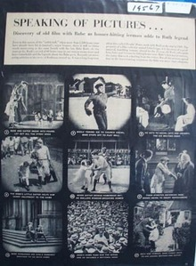 Babe Ruth starring in Headin Home a 1920