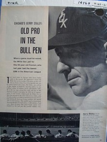 Gerry Staley the old pro in the bull pen photo Ad 1961.