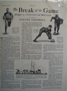 Michigan vs. Northwestern 1925 mud game 1927 Ad.