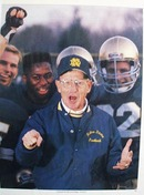 Color photo of Notre Dame football coach Lou Holtz.